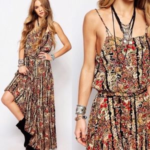Free People Valerie Floral Maxi Tiered Maxi dress